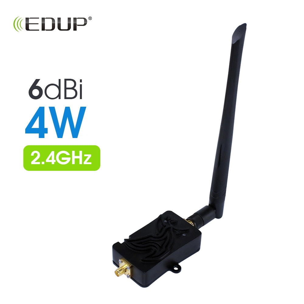 EDUP Wifi Signal Booster 2.4Ghz 4W 802.11 Signal Extender Wifi Repeater Broadband Amplifiers for Wireless Router Network Card
