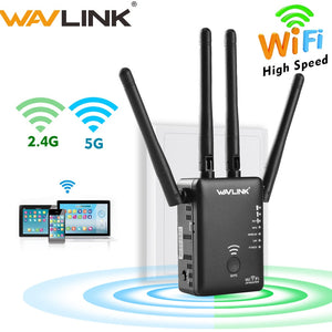Wavlink wifi Repeater 5ghz 750/1200mbps Wireless Router Dual band 2.4Ghz Access point long signal amplifier Wi-Fi Range Extender