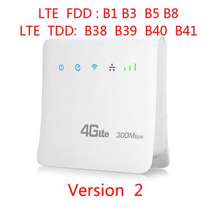 TIANJIE D921 Unlocked 300Mbps 4G LTE CPE Mobile WIFI Router with LAN Port Support SIM card Portable Wireless Router