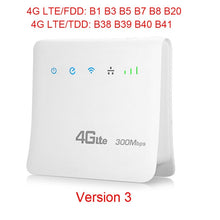 Load image into Gallery viewer, TIANJIE D921 Unlocked 300Mbps 4G LTE CPE Mobile WIFI Router with LAN Port Support SIM card Portable Wireless Router