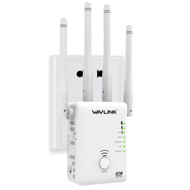 Dual-Band AC1200 Wireless Router Wifi Repeater 5Ghz wi-fi Range extender 1200Mbps WiFi Booster Access point High Gain Antenna
