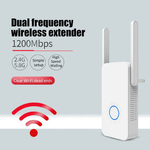 1200Mbps WiFi Repeater Dual Band WiFi Signal Amplifier Wireless Router Long WiFi Range Extender Router CF-WR752AC-V2