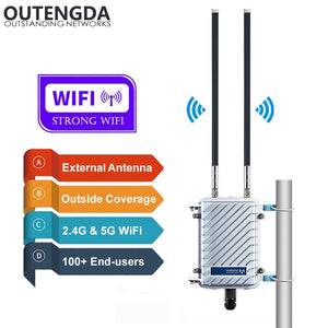 11AC 2.4G 5G WiFi Access Point Outdoor CPE AP Router Wi-Fi Signal Amplifier Repeater Outside Long Range WiFi Wireless Router Poe