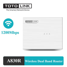 Load image into Gallery viewer, TOTOLINK Wireless Router 1200Mbps 2.4G 5G 4*100Mbps Lan Ports Internal Antenna Dual Band WiFi Repeater A830R