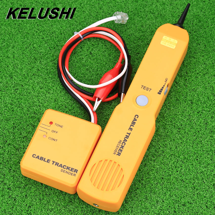 KELUSHI Cable Tester Tracker Tracer Diagnose Tone Line Finder Detectors Portable RJ11Network Phone Cable Tester Networking Tools