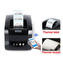 Load image into Gallery viewer, USB port  thermal label printer for 20-80mm thermal label paper Thermal barcode printer 58mm or 80mm thermal receipt printer