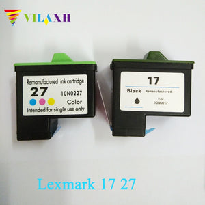 Vilaxh Ink Cartridge for Lexmark 17 27 for lexmark X1270 i3 X1100 X1150 X2250 X75 Z13 Z23 Z34 Z515 Z517 printer