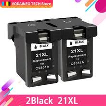Load image into Gallery viewer, QSYRAINBOW Compatible 21 Black color Ink Cartridge Replacement for HP 21 22 HP21 for Deskjet F2280 F4180 F4100 F2100 F2200 F300