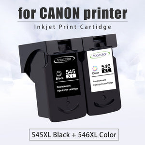 Topcolor Ink Cartridge PG545 CL546 for Canon PG 545 CL 546 Black Color for Printer Pixma MX495 TR4550 Ip2850 MG2450 MG2550S 3053