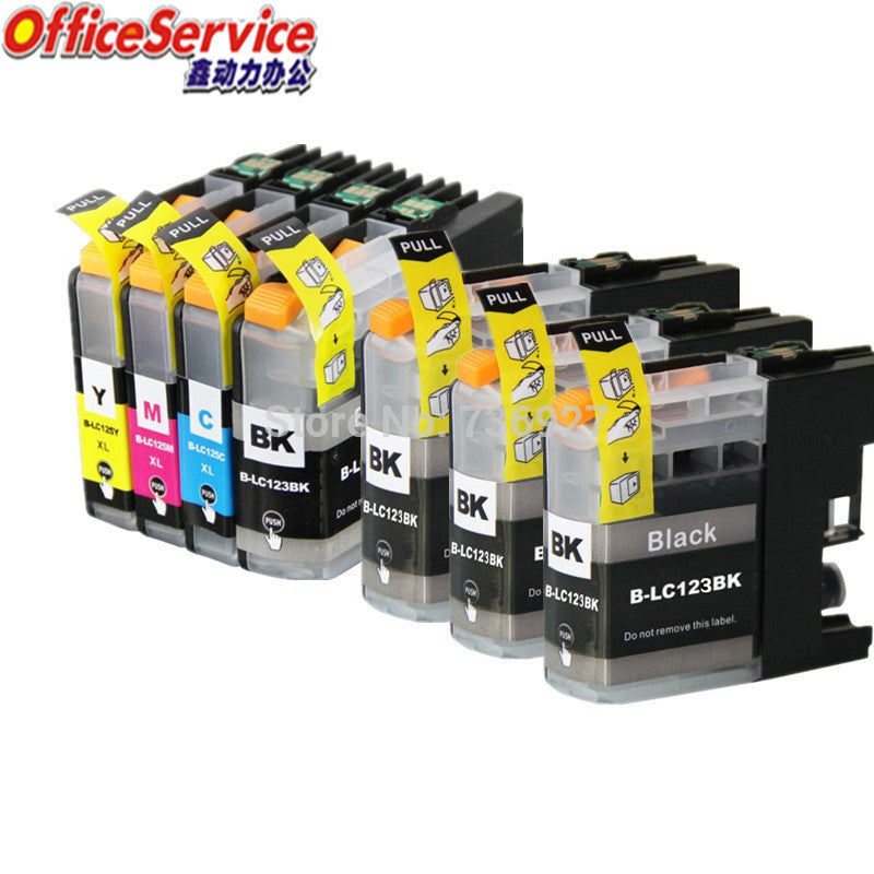 LC123 LC121 Compatible  Ink Cartridge For Brother DCP-J552DW J752DW J132W J152W J172W  MFC-J470DW J650DW J870DW printer