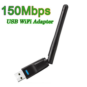 150Mbps 2.4G USB WiFi Adapter Mini Wireless WiFi Dongle Network Card USB Ethernet WiFi Receiver External WLAN Wi-Fi Adapter