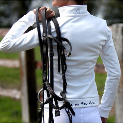 veste technique salt blanche femme equitation alexandra ledermann sportswear