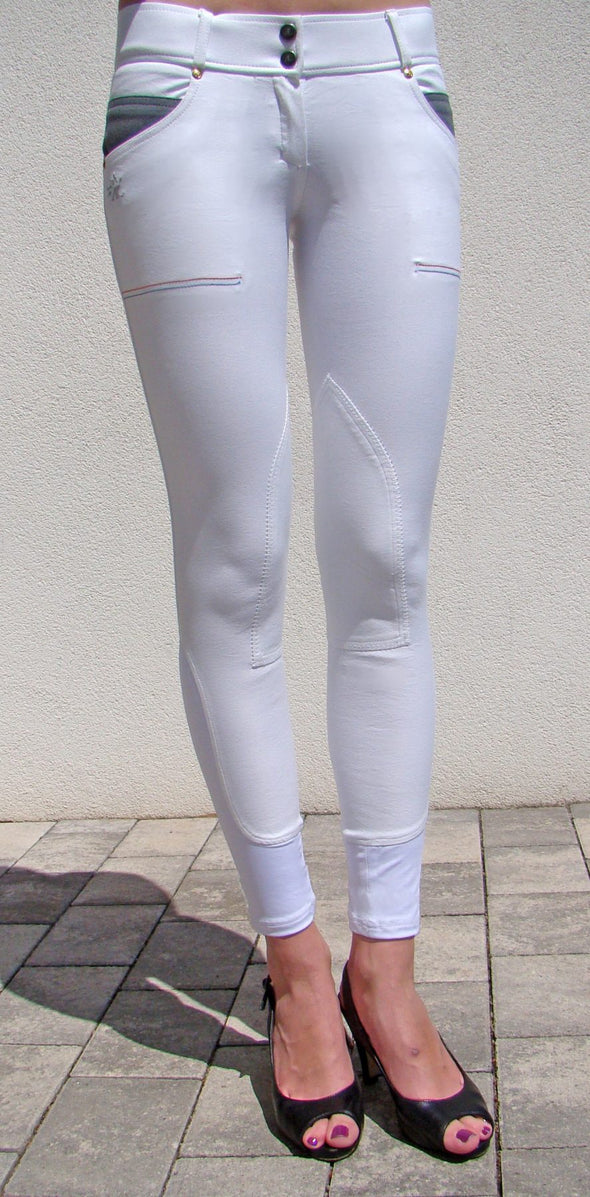 pantalon d'equitation technique capital blanc femme alexandra ledermann sportswear alsportswear