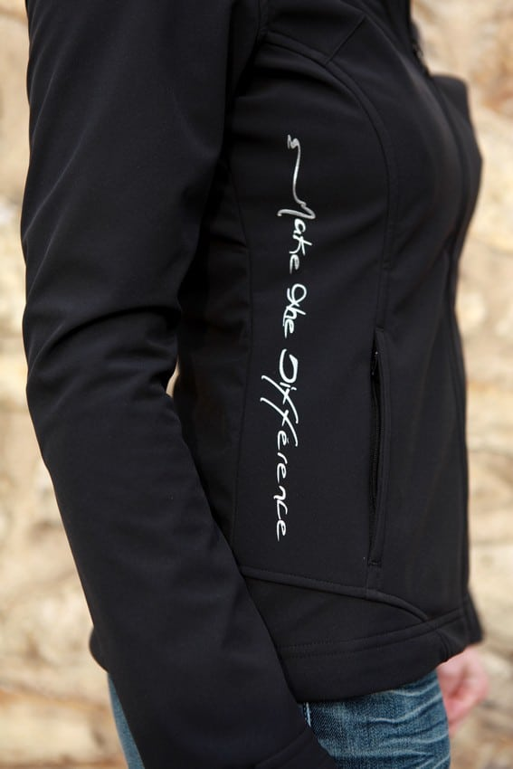 veste softshell inception noire zoom alexandra ledermann sportswear alsportswear