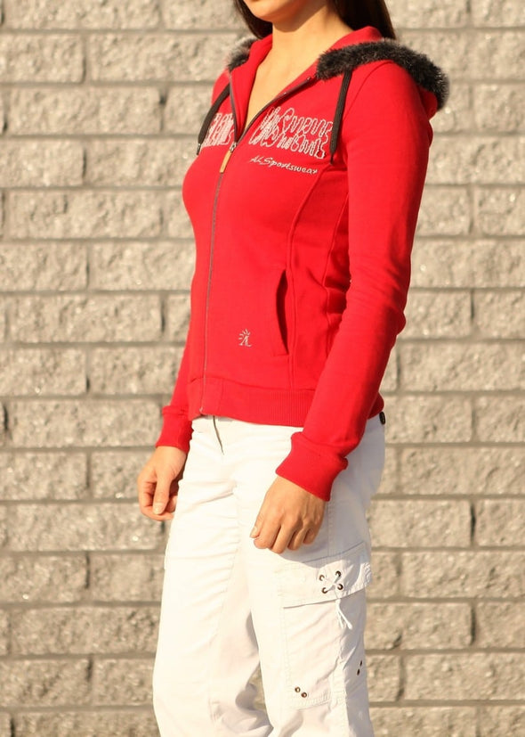 sweat equitation mardi rouge alexandra ledermann sportswear alsportswear