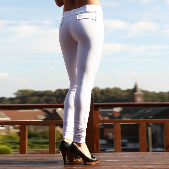 pantalon d équitation blanc al the city femme alexandra ledermann sportswear alsportswear