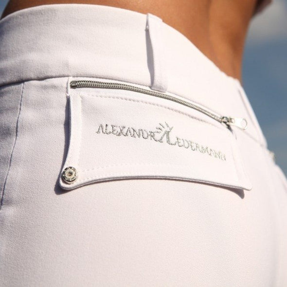 pantalon d équitation al the city blanc poche alexandra ledermann sportswear alsportswear