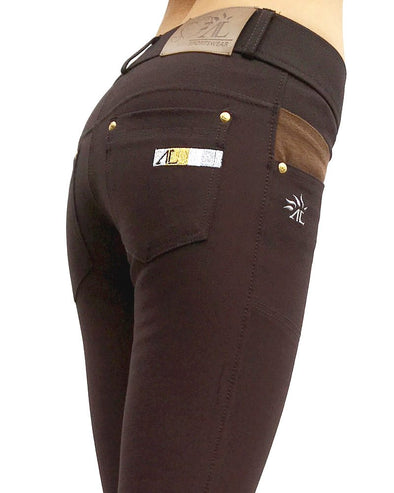 pantalon equitation technique capital chocolat alexandra ledermann sportswear alsportswear