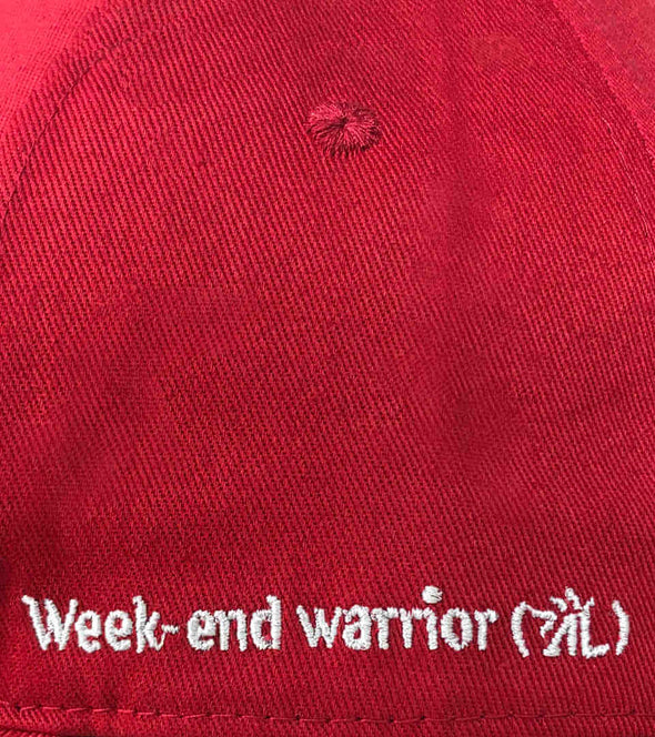 casquette rouge baseball broderie weekend warrior alexandra ledermann sportswear alsportswear