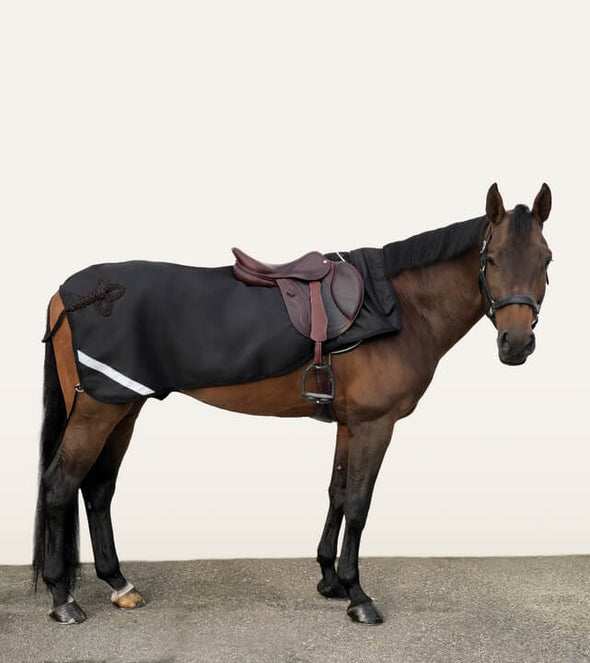 couvre reins noir choco mustang impermeable polaire cheval alexandra ledermann sportswear alsportswear