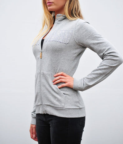 sweat monday gris clair chiné alexandra ledermann sportswear alsportswear