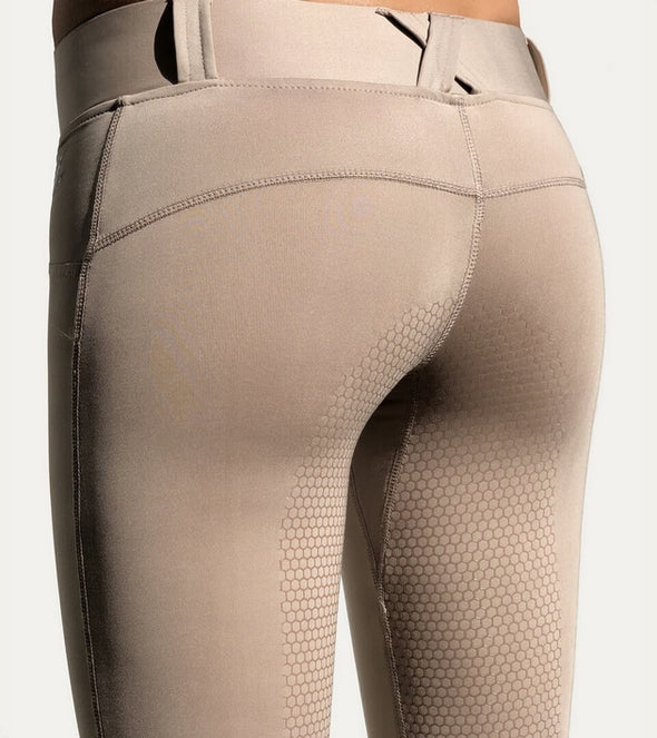 pantalon d équitation full grip good vibes beige nacre push up alexandra ledermann sportswear