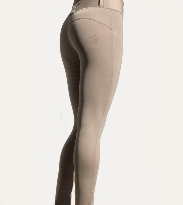 pantalon d équitation full grip good vibes beige nacre alexandra ledermann sportswear
