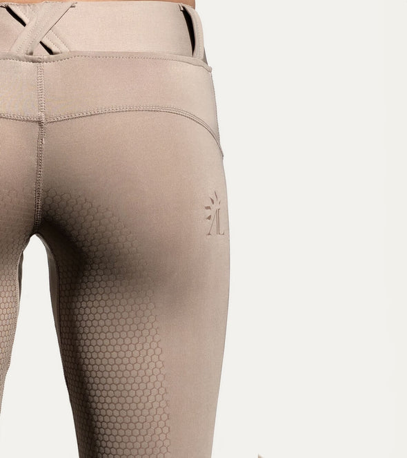 pantalon d équitation full grip good vibes beige nacre cso alexandra ledermann sportswear