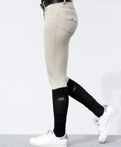 pantalon d équitation technique double je pocket beige alexandra ledermann sportswear alsportswear