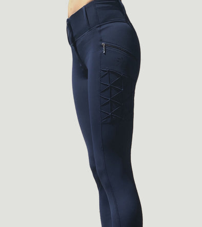 pantalon equitation full grip magic vibes bleu marine alexandra ledermann sportswear alsportswear