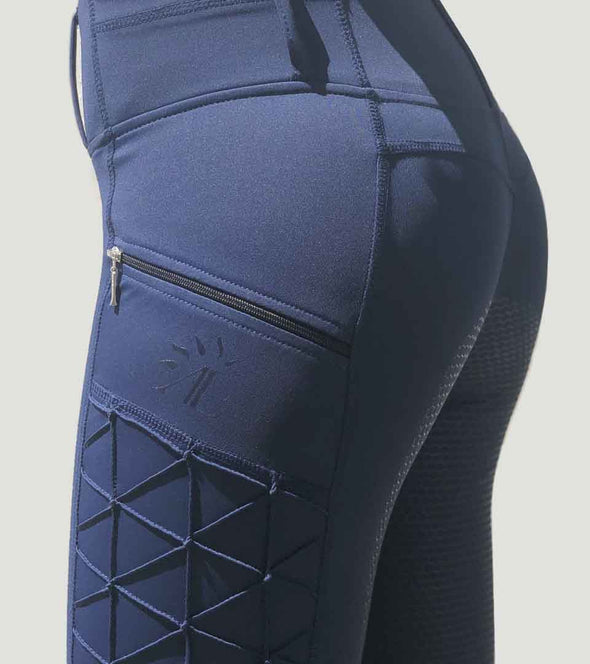 pantalon equitation galbant full grip magic vibes bleu marine alexandra ledermann sportswear alsportswear