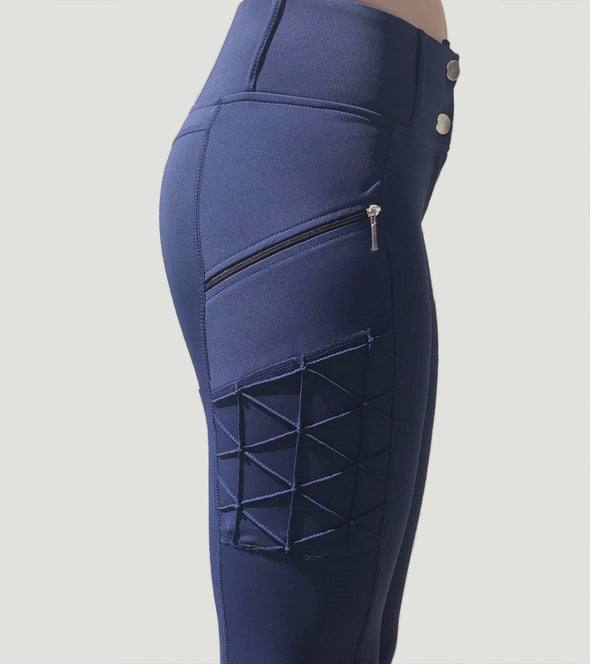 pantalon equitation full grip magic vibes bleu marine poche alexandra ledermann sportswear alsportswear