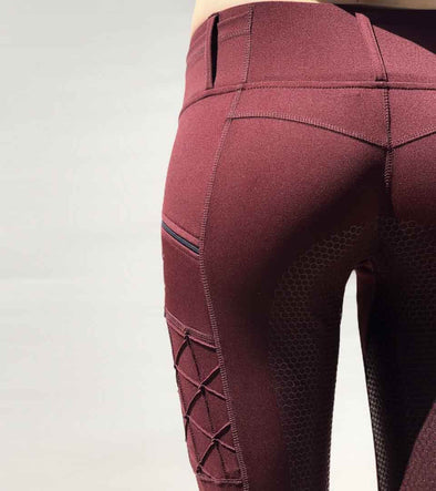 pantalon equitation full grip magic vibes bordeaux alexandra ledermann sporstwear alsportswear
