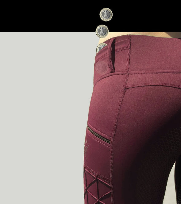 pantalon equitation full grip magic vibes bordeaux dos alexandra ledermann sporstwear alsportswear