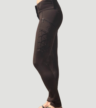 pantalon equitation full grip magic vibes chocolat alexandra ledermann sportswear alsportswear