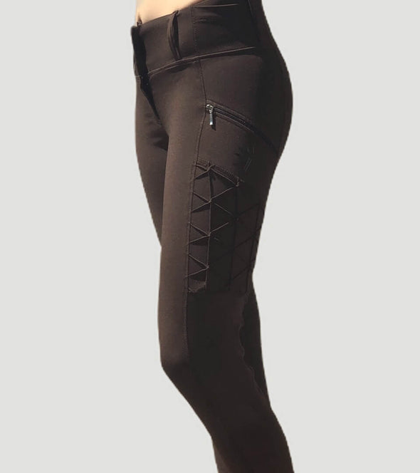 pantalon equitation full grip magic vibes chocolat face alexandra ledermann sportswear alsportswear