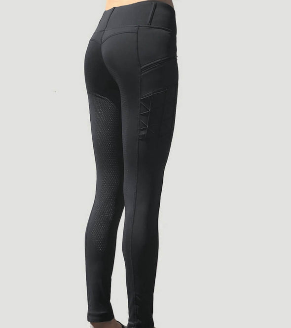 pantalon equitation noir push up full grip magic vibes alexandra ledermann sportswear alsportswear
