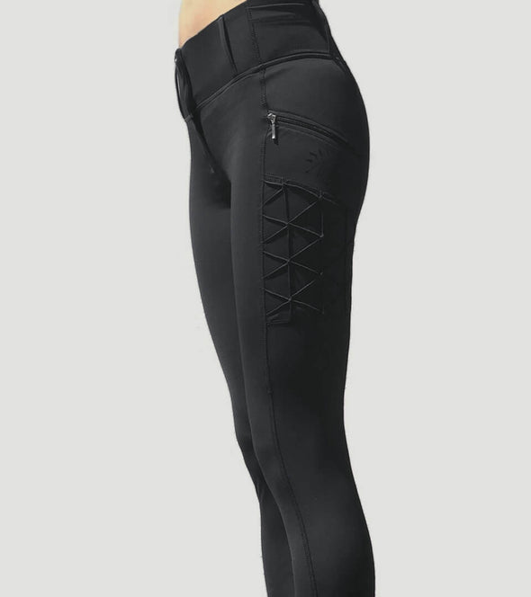 pantalon equitation full grip magic vibes noir femme alexandra ledermann sportswear alsportswear