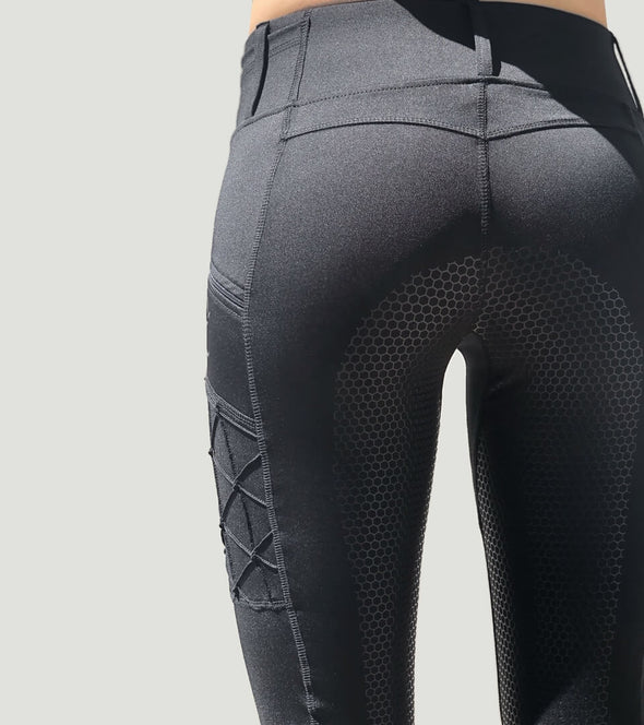 pantalon equitation full grip magic vibes noir alexandra ledermann sportswear alsportswear