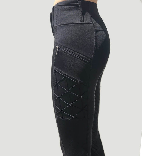 pantalon equitation noir full grip magic vibes galbant alexandra ledermann sportswear alsportswear