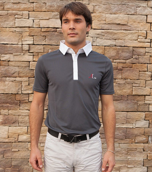 Polo homme leon gris manches courtes ALSportswear