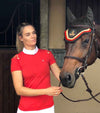 polo manches courtes unleash rouge equitation alexandra ledermann sportswear alsportswear