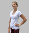 top basic push your limits blanc tee shirt femme alexandra ledermann sportswear alsportswear