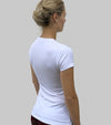 top basic push your limits blanc tee shirt dos alexandra ledermann sportswear alsportswear