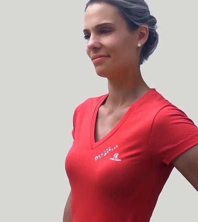 top basic push your limits rouge tee-shirt alexandra ledermann sportswear alsportswear