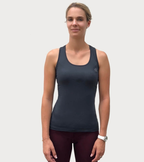 top basic sans faute 1 point de temps noir debardeur equitation alexandra ledermann sportswear