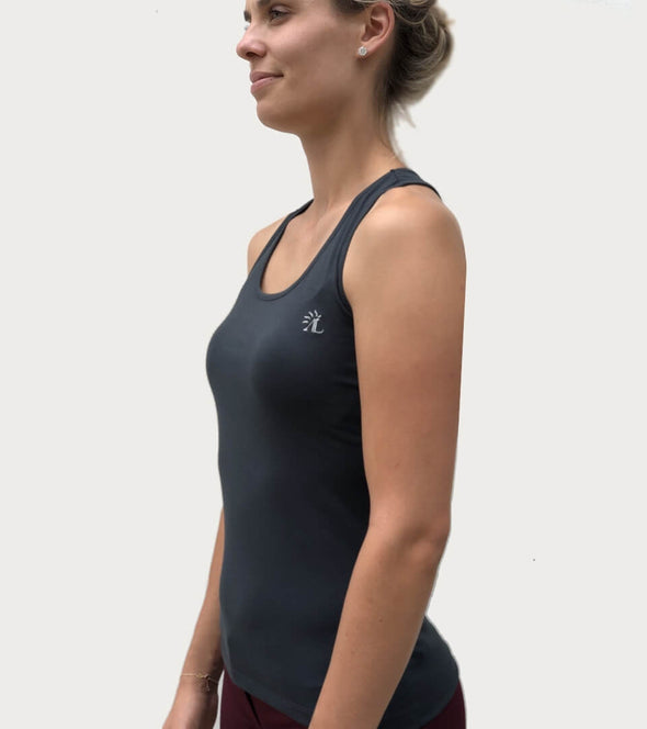 top basic sans faute 1 point de temps noir debardeur technique alexandra ledermann sportswear