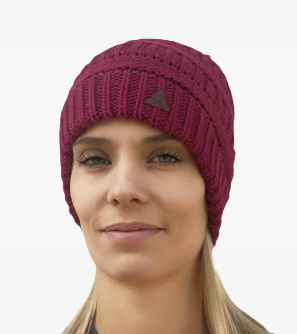 bonnet femme queue de cheval bordeaux alsportswear alexandra ledermann sportswear