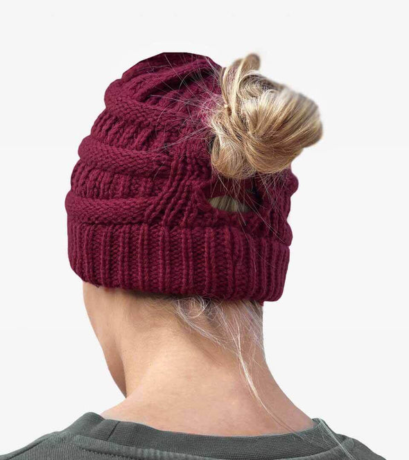 bonnet queue de cheval bordeaux chignon haut alsportswear alexandra ledermann sportswear