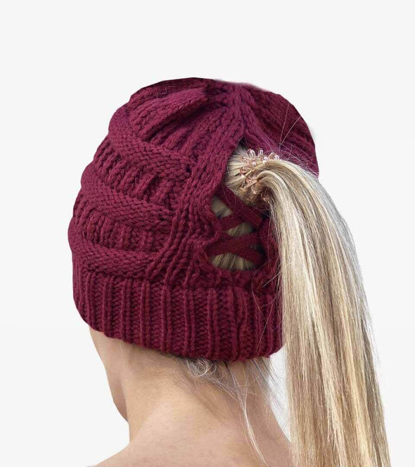 bonnet queue de cheval bordeaux dos ouverture alsportswear alexandra ledermann sportswear